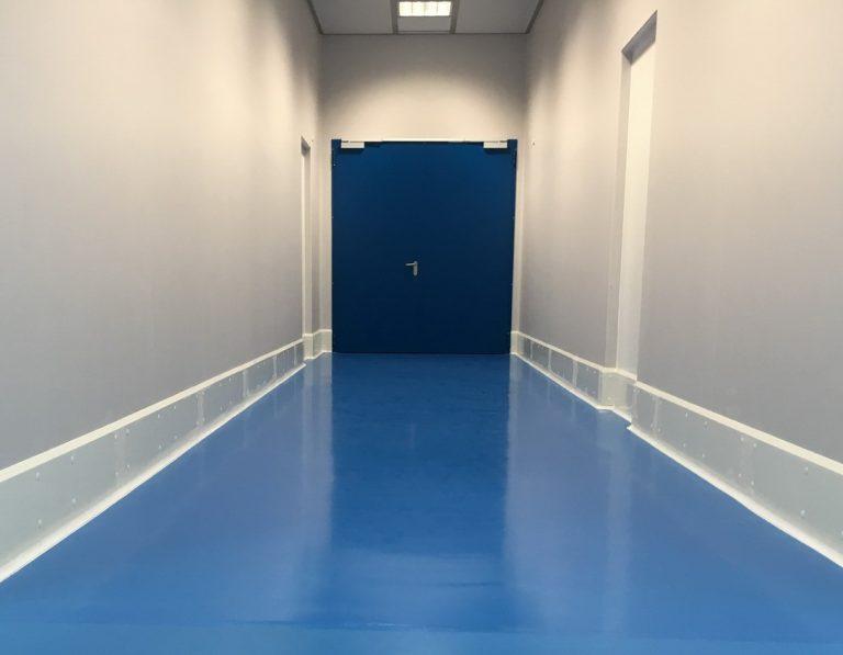 Large fire doors hallway