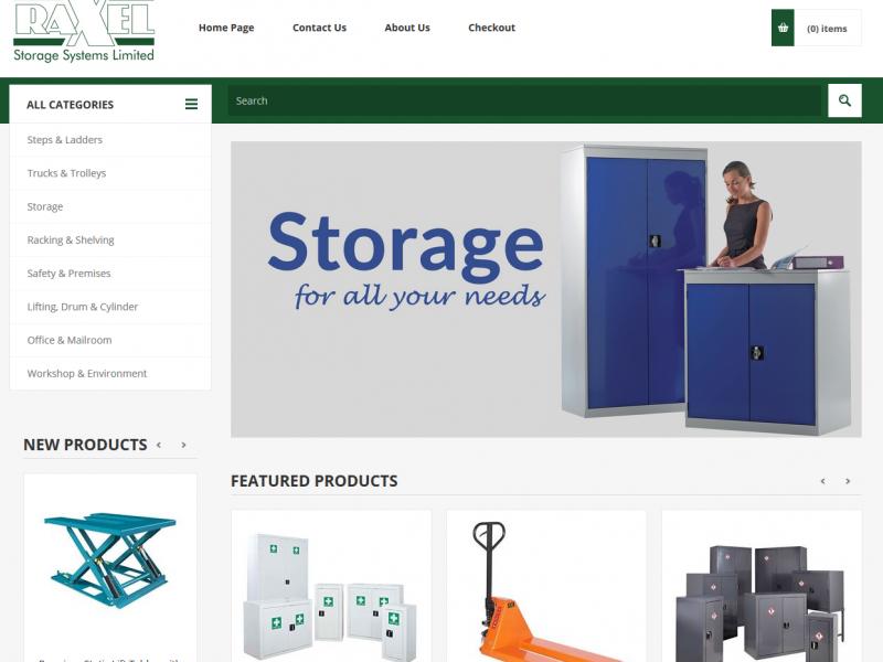 Raxelstore homepage